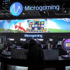 Puesto de Microgaming en la exposición